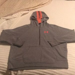 Under Armour Gray/Coral Loose Fit Hoodie L